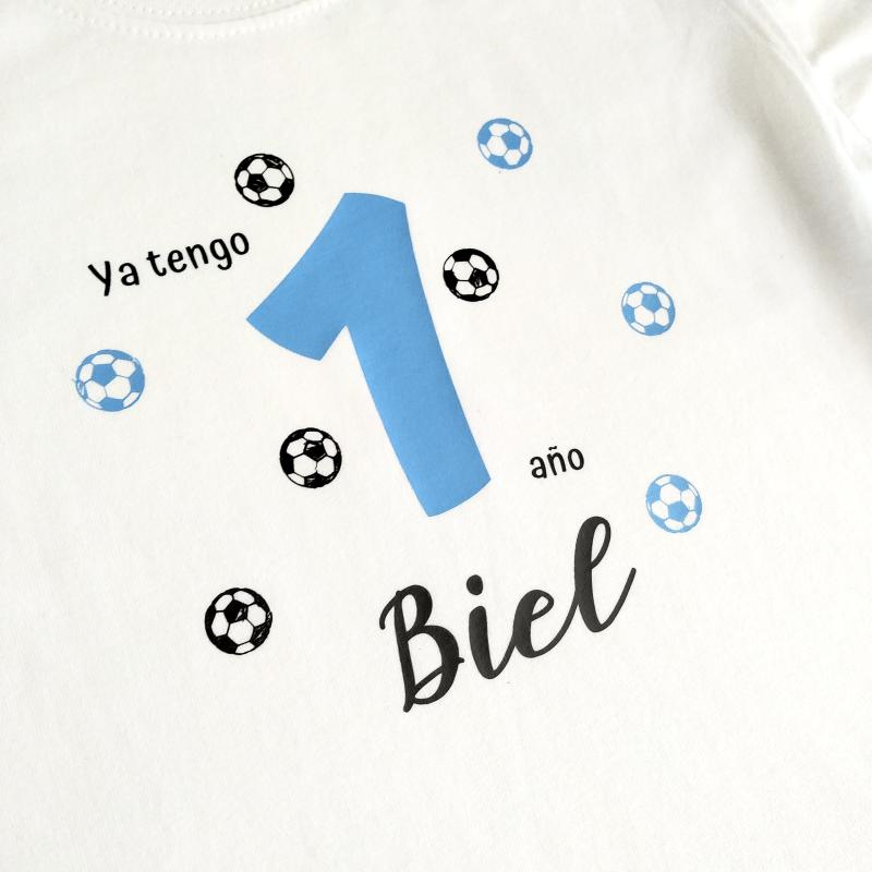 Camiseta cumpleaños fútbol