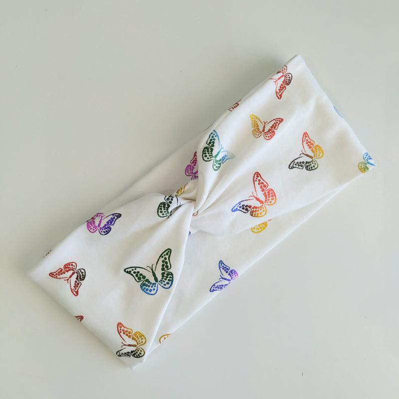 Turbante mariposas